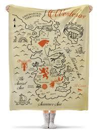 <b>Плед флисовый 130</b>×<b>170</b> см Карта Вестероса. Игра Престолов ...