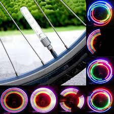 <b>2pcs Bicycle Light 5 LED</b> Wheel Tyre Tire Valve Caps Spoke Lights ...