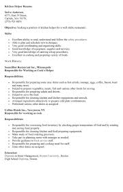 resume for kitchen hand resume objective kitchen helper sample kitchen helper resume