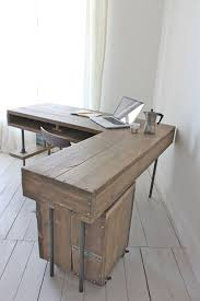 1000 ideas about reclaimed wood desk on pinterest desks l shaped desk and pipe desk chic corner office desk