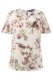 Ulla Popken | Top | Soft Watercolor <b>Floral Print Blouse</b> | <b>Floral prints</b> ...