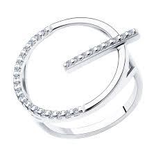 <b>Кольцо</b> из <b>серебра SOKOLOV</b> – купить в официальном интернет ...