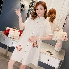 2019 New <b>maternity clothing</b> half sleeve blouses spring summer ...