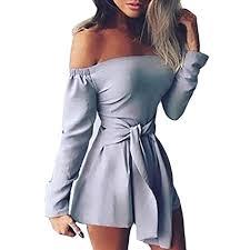 Fashion Sexy Women Solid Bandage Off Shoulder ... - Amazon.com