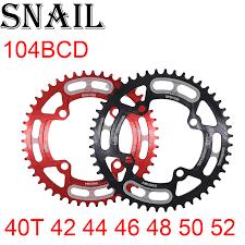 <b>SNAIL</b> Chainring 104 <b>BCD</b> round 30t 32t 34t 36t 38t 40t 42t 44t 46t ...