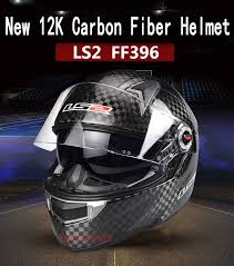 Genunie <b>LS2</b> ff396 carbon fiber <b>full</b> face motorcycle helmet dual ...