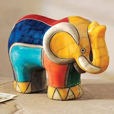 south african decor: south african raku elephant facfefecdc south african raku elephant