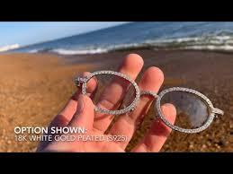 ICED Sleek Glasses | 18k <b>White Gold</b> Plated (<b>S925</b>) | LFYSHOP ...