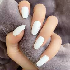 24pcs Classic White Short Fake <b>Nails</b> For Feet <b>Pure</b> Color Short ...