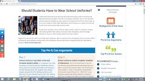 the ultimate resource for the argument essay procon org  proconschool uniforms school uniforms png