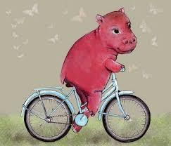 Sweeter version of a <b>hippo</b> on a bike. Hmmmmm... | Bike art, <b>Hippo</b> ...