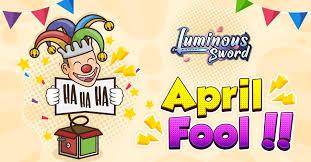 Luminous <b>Sword</b> - <b>Greetings</b> to all player, Happy April... | Facebook