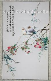 <b>Delicate Chinese Mounted</b> 100%Hand embroidered Su Silk ...