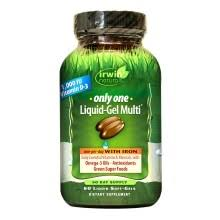 Irwin Naturals <b>Only One Liquid-Gel Multi</b> with Iron, Softgels ...