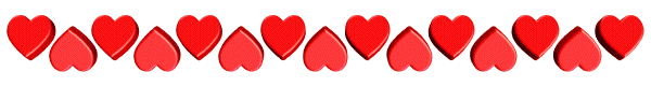 Image result for clip art line of hearts