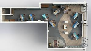 office 3d visualisations cad office space layout