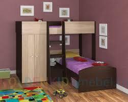 <b>Двухъярусная кровать Golden kids 4</b> венге дуб сонома