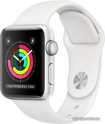 <b>Apple Watch Series</b> 3 38 мм (серебристый алюминий/белый ...