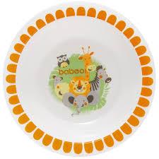 <b>Тарелка</b> глубокая <b>BABOO Safari</b>, оранжевый, белый