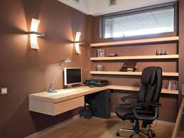 decoration fancy modern home office wall shelves design combined brilliant hanging office desk ideas also brilliant small office ideas