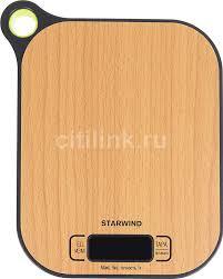 Купить <b>Весы кухонные</b> STARWIND SSK2070, <b>бамбук</b> в интернет ...