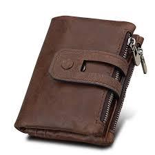 <b>RFID</b> Blocking Secure Wallet 11 Card Slots Vintage <b>Genuine</b> ...
