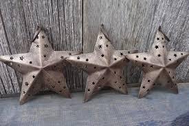 Rustic GOLD <b>Tin</b> STARS - <b>Retro Metal</b> - <b>Christmas Ornaments</b>