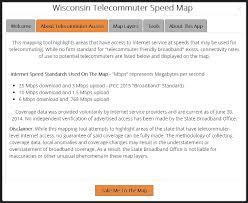 wisconsin telecommuter speed map colterrific maps a portfolio telecommuter speed map portfolio about