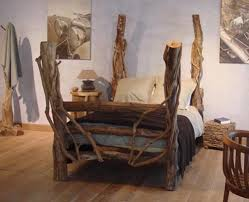 artistic wood pieces design rustic wooden furniture by sda decorations unique bed design 01 artistic wood pieces design