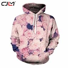 CJLM Couple <b>Hoodies Men Fashion</b> Print Pink Rose 3d <b>Sweatshirt</b> ...