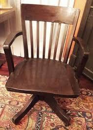 antique swivel office desk chair wooden patten phila pa vtg banker legal teacher ebay antique deco wooden chair swivel
