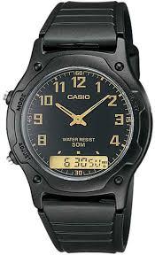 Наручные <b>часы</b> кварцевые мужские <b>Casio</b> Collection <b>AW</b>-49H-1B ...