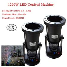 <b>2Pcs</b>/<b>Lot</b> 1200W DMX Confetti Blower <b>Stage Effect</b> Cannon LED ...