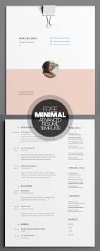 17 clean modern cv resume templates psd bies minimal advanced resume template