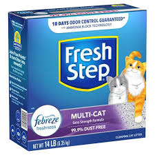 <b>Fresh Step Cat</b> Litter, Clumping, Extra Strength Formula, Multi-Cat