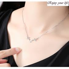 <b>S925 sterling silver</b> moonstone <b>antler</b> necklace | Shopee Singapore