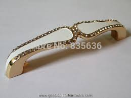 5 rhinestone drawer pulls handles dresser pull handle gold white glass crystal kitchen cabinet antique hardware furniture pulls