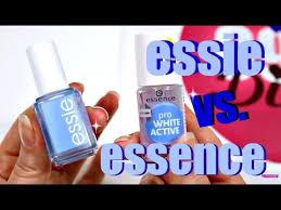 essie brilliant service! vs. <b>essence pro White Active</b> im Test | 9999 ...