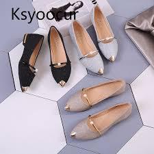 Brand Ksyoocur <b>2019 Spring New</b> Ladies Flat Shoes <b>Casual</b> ...