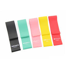 China <b>5 Colors</b> Latex <b>Resistance</b> Loop Booty Band with Instruction ...