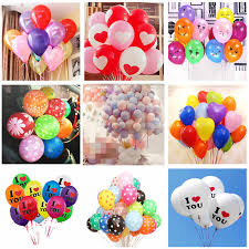<b>5pcs</b> 2.2g <b>12 Inch</b> Assorted Color Latex Balloons Heart Helium Air ...