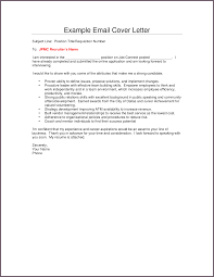 cover letter example email template cover letter example email