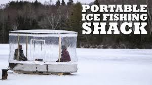 DIY PORTABLE Ice Fishing Shack   YouTube