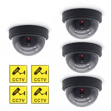 <b>LINTIANCHENG 4pcs</b> Dummy Camera Dome <b>outdoor</b> With LED ...