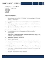sample resume loan administrator job description best resume sample resume loan administrator job description mortgage loan officer job description sample monster loan officer loan
