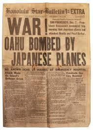Lot Detail   Honolulu Pearl Harbor Newspaper      December          Nate D Sanders Honolulu Pearl Harbor Newspaper      December                   WAR  OAHU