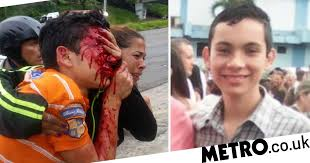 Boy, 16, shot in face by police during protest loses both eyes | Metro ...