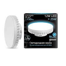 131016212 <b>Лампа Gauss LED GX70</b> 12W AC150-265V 4100K