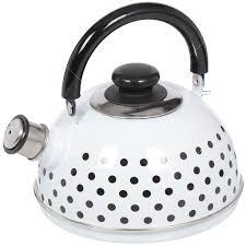 <b>Чайник эмалированный</b> Рубин Ростов Горох со свистком, <b>2.5 л</b>, в ...