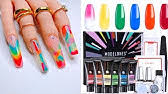 <b>POLYGEL NAILS</b> TUTORIAL FOR BEGINNERS | <b>GLITTER</b> ...